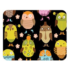 Cute Owls Pattern Double Sided Flano Blanket (large)