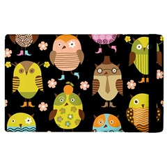 Cute Owls Pattern Apple Ipad Pro 9 7   Flip Case