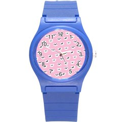 Girly Girlie Punk Skull Round Plastic Sport Watch (s)