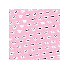 Girly Girlie Punk Skull Small Satin Scarf (square)