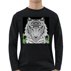 Tiger Head Long Sleeve Dark T Shirts