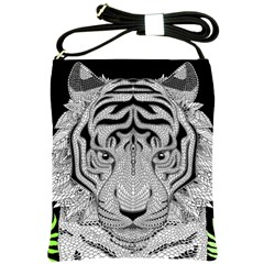 Tiger Head Shoulder Sling Bags