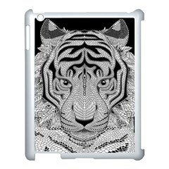 Tiger Head Apple Ipad 3/4 Case (white) by BangZart