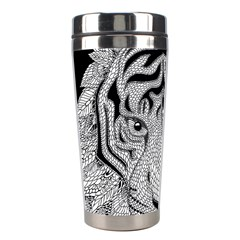Tiger Head Stainless Steel Travel Tumblers by BangZart