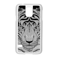 Tiger Head Samsung Galaxy S5 Case (white)