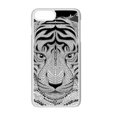 Tiger Head Apple Iphone 7 Plus White Seamless Case by BangZart