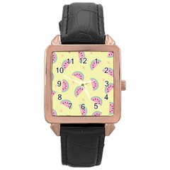 Watermelon Wallpapers  Creative Illustration And Patterns Rose Gold Leather Watch