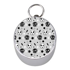 Skull Pattern Mini Silver Compasses by BangZart