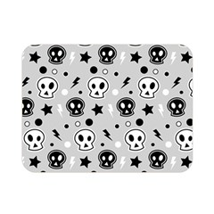 Skull Pattern Double Sided Flano Blanket (mini)  by BangZart