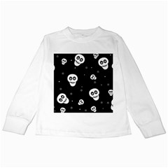Skull Pattern Kids Long Sleeve T Shirts