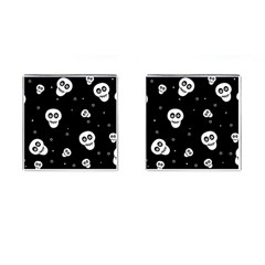 Skull Pattern Cufflinks (square) by BangZart