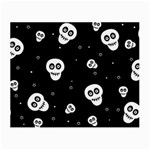 Skull Pattern Small Glasses Cloth (2-Side) Front