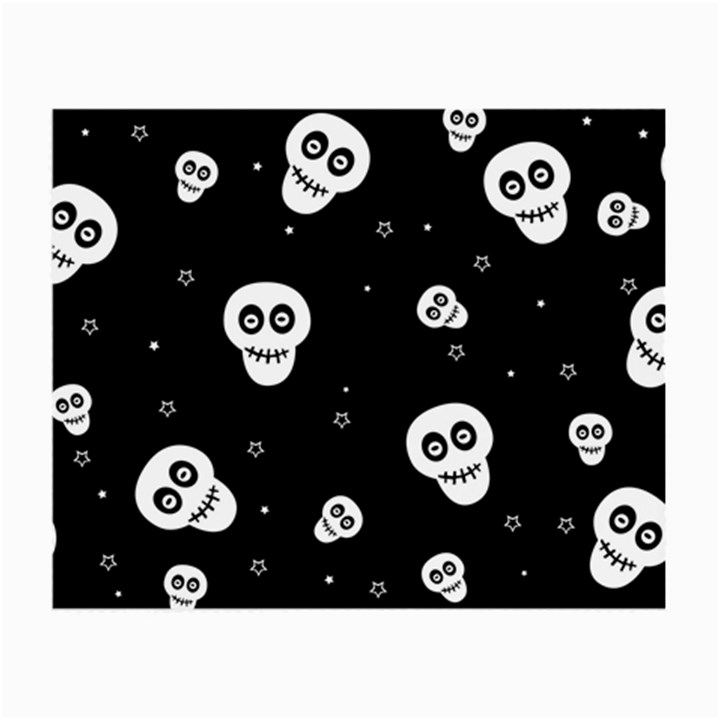 Skull Pattern Small Glasses Cloth (2-Side)