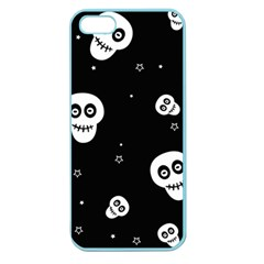 Skull Pattern Apple Seamless Iphone 5 Case (color) by BangZart