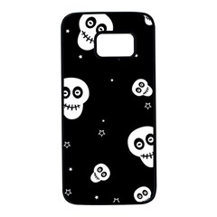 Skull Pattern Samsung Galaxy S7 Black Seamless Case