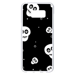 Skull Pattern Samsung Galaxy S8 Plus White Seamless Case