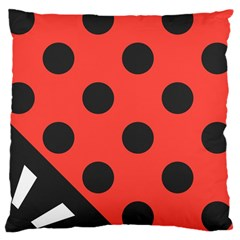 Abstract Bug Cubism Flat Insect Large Cushion Case (one Side)