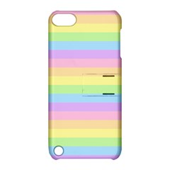 Cute Pastel Rainbow Stripes Apple Ipod Touch 5 Hardshell Case With Stand by BangZart
