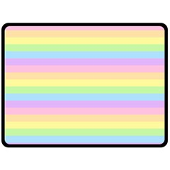 Cute Pastel Rainbow Stripes Double Sided Fleece Blanket (large)  by BangZart