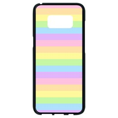 Cute Pastel Rainbow Stripes Samsung Galaxy S8 Black Seamless Case