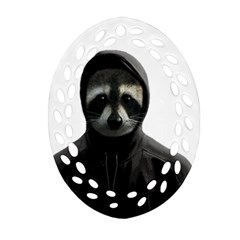 Gangsta Raccoon  Ornament (oval Filigree)