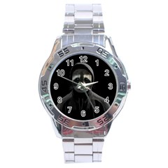 Gangsta Raccoon  Stainless Steel Analogue Watch