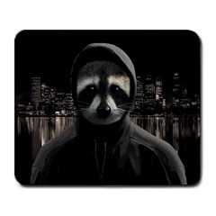 Gangsta Raccoon  Large Mousepads
