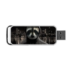 Gangsta Raccoon  Portable Usb Flash (two Sides)