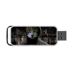 Gangsta Cat Portable Usb Flash (two Sides) by Valentinaart