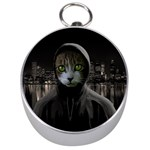 Gangsta cat Silver Compasses Front