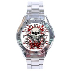 Acab Tribal Stainless Steel Analogue Watch by Valentinaart