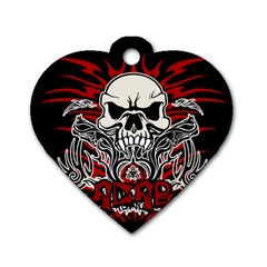 Acab Tribal Dog Tag Heart (one Side) by Valentinaart