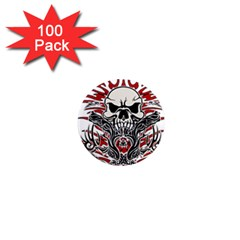Skull Tribal 1  Mini Magnets (100 Pack)  by Valentinaart