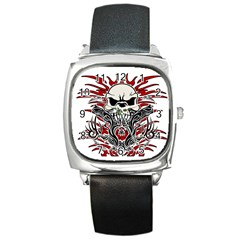 Skull Tribal Square Metal Watch
