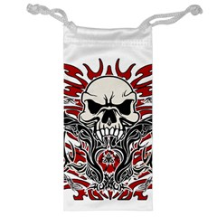Skull Tribal Jewelry Bag by Valentinaart