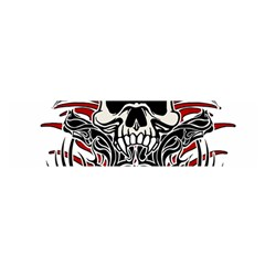 Skull Tribal Satin Scarf (oblong)