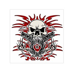 Skull Tribal Small Satin Scarf (square)
