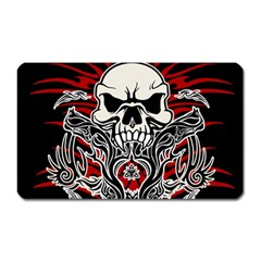 Skull Tribal Magnet (rectangular) by Valentinaart