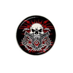 Skull Tribal Hat Clip Ball Marker