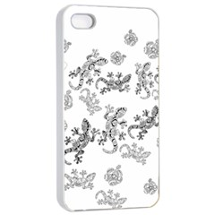 Ornate Lizards Apple Iphone 4/4s Seamless Case (white) by Valentinaart