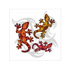 Ornate Lizards Small Satin Scarf (square)
