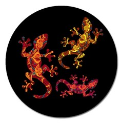 Ornate Lizards Magnet 5  (round)