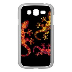 Ornate Lizards Samsung Galaxy Grand Duos I9082 Case (white) by Valentinaart