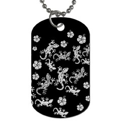 Ornate Lizards Dog Tag (two Sides) by Valentinaart