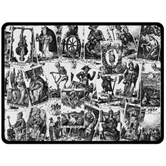 Tarot Cards Pattern Double Sided Fleece Blanket (large)