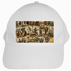 Tarot Cards Pattern White Cap by Valentinaart