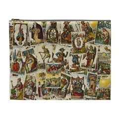 Tarot Cards Pattern Cosmetic Bag (xl) by Valentinaart