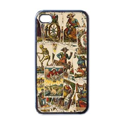 Tarot Cards Pattern Apple Iphone 4 Case (black) by Valentinaart