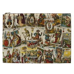 Tarot Cards Pattern Cosmetic Bag (xxl)  by Valentinaart
