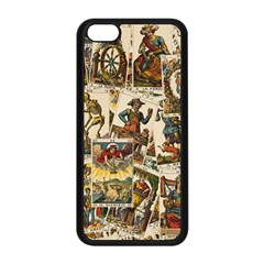 Tarot Cards Pattern Apple Iphone 5c Seamless Case (black) by Valentinaart